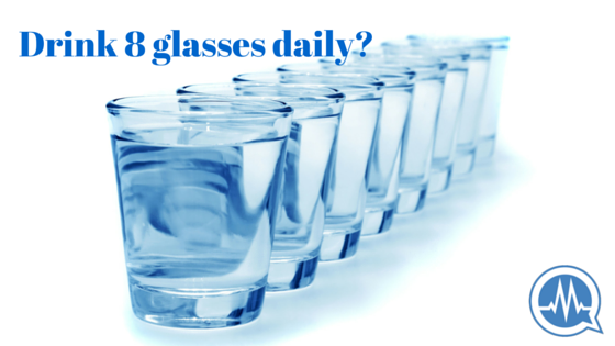 drink 8 glasses of water a day